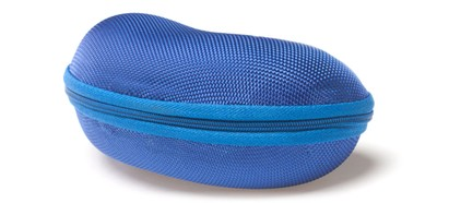 Angle of Large Zip Shut Case #850 in Blue, Women's and Men's  Hard Case