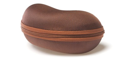 Angle of Large Zip Shut Case #850 in Brown, Women's and Men's  Hard Case