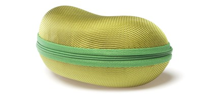 Angle of Large Zip Shut Case #850 in Green, Women's and Men's  Hard Case