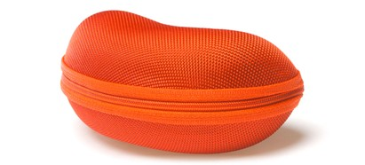 Angle of Large Zip Shut Case #850 in Orange, Women's and Men's  Hard Case