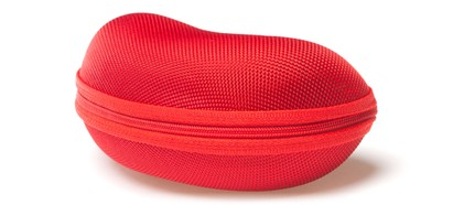 Angle of Large Zip Shut Case #850 in Red, Women's and Men's  Hard Case