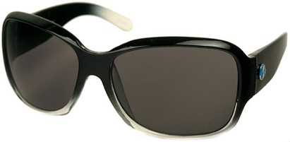 Angle of SW Recycled Oversized Style #482 in Black/Clear Frame, Women's and Men's