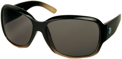 Angle of SW Recycled Oversized Style #482 in Brown/Clear Frame, Women's and Men's