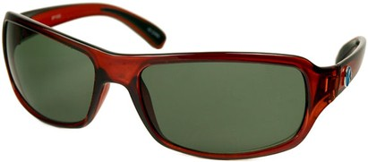Angle of SW Recycled Style #470 in Clear Red Frame, Women's and Men's