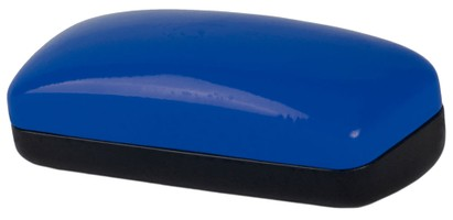 Blue Colorblock Sunglasses Case