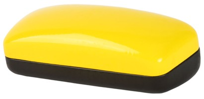 Yellow Colorblock Sunglasses Case