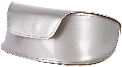 Silver Patent Sunglasses Case