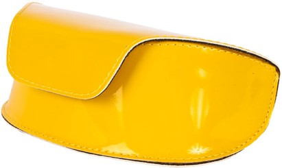 Yellow Patent Sunglasses Case