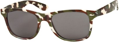 Angle of SW Camouflage Retro Style #1227 in Brown/Green Multi, Women's and Men's