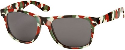 Angle of SW Camouflage Retro Style #1227 in Red/Green Multi, Women's and Men's