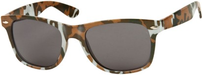 Angle of SW Camouflage Retro Style #1227 in Grey/Brown Multi, Women's and Men's