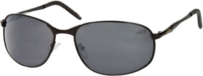Angle of SW Metal Style #9980 in Black Frame, Women's and Men's