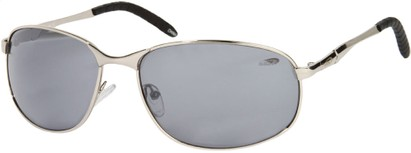 Angle of SW Metal Style #9980 in Silver Frame, Women's and Men's
