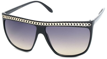 Angle of SW Celebrity Style #620 in Black Frame with Gold Chain, Women's and Men's