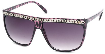 Angle of SW Celebrity Style #620 in Purple Tort Frame with Silver Chain, Women's and Men's