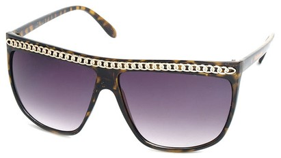 Angle of SW Celebrity Style #620 in Yellow Tort Frame with Gold Chain, Women's and Men's