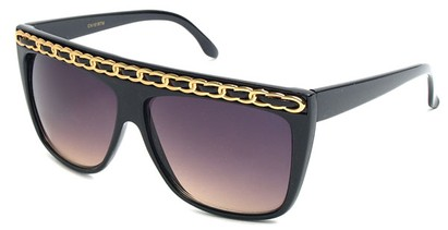 Angle of SW Oversized Celebrity Style #3700 in Black/Gold, Women's and Men's