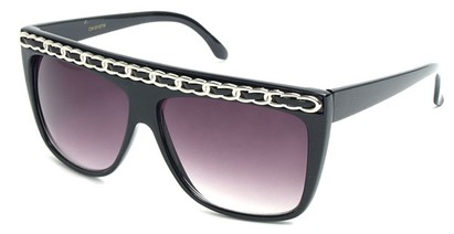Angle of SW Oversized Celebrity Style #3700 in Black/Silver, Women's and Men's