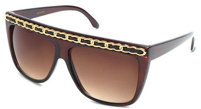 Angle of SW Oversized Celebrity Style #3700 in Brown, Women's and Men's