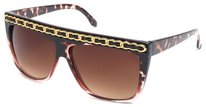 Angle of SW Oversized Celebrity Style #3700 in Pink Tortoise, Women's and Men's