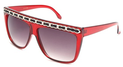 Angle of SW Oversized Celebrity Style #3700 in Red, Women's and Men's