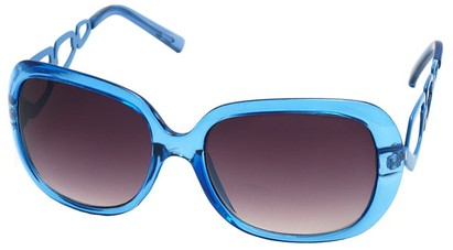 Angle of SW Oversized Style #1226 in Blue Frame, Women's and Men's