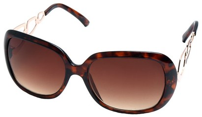 Angle of SW Oversized Style #1226 in Tortoise Frame, Women's and Men's
