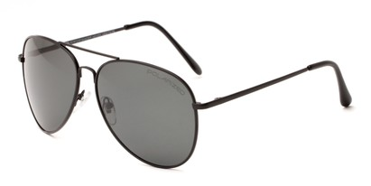Angle of Vista #9270 in Black Frame with Grey Lenses, Women's and Men's Aviator Sunglasses
