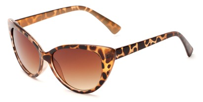 Angle of Catalina #9122 in Brown Tortoise Frame, Women's Cat Eye Sunglasses
