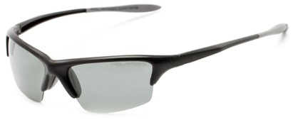 Angle of Moscow #8513 in Flat Black Frame with Smoke Lenses, Women's and Men's Sport & Wrap-Around Sunglasses