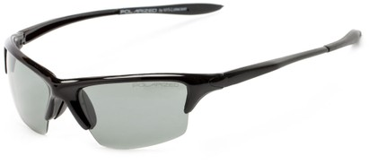 Angle of Moscow #8513 in Glossy Black Frame with Smoke Lenses, Women's and Men's Sport & Wrap-Around Sunglasses