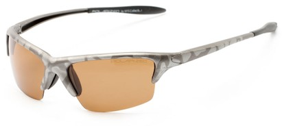 Angle of Moscow #8513 in Silver Camo Frame with Amber Lenses, Women's and Men's Sport & Wrap-Around Sunglasses