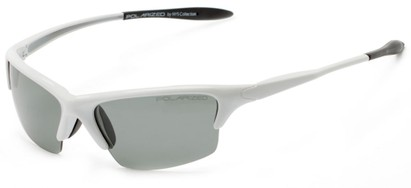 Angle of Moscow #8513 in Glossy White Frame with Smoke Lenses, Women's and Men's Sport & Wrap-Around Sunglasses