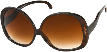 Angle of Cheyenne #9877 in Dark Tortoise Frame with Amber Lenses, Women's Round Sunglasses