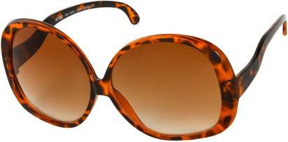Angle of Cheyenne #9877 in Light Tortoise Frame with Amber Lenses, Women's Round Sunglasses