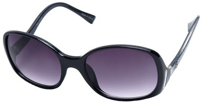 Angle of SW Oversized Style #408 in Black and Multi Frame, Women's and Men's