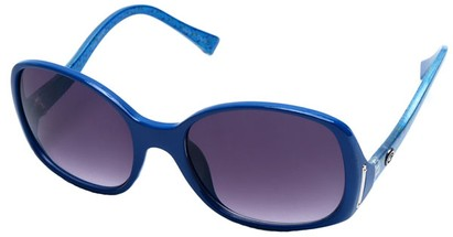 Angle of SW Oversized Style #408 in Blue and Multi Frame, Women's and Men's