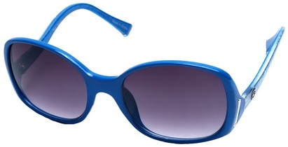 Angle of SW Oversized Style #408 in Blue and Silver Frame, Women's and Men's