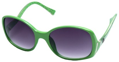 Angle of SW Oversized Style #408 in Green and Silver Frame, Women's and Men's