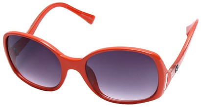 Angle of SW Oversized Style #408 in Orange and Silver Frame, Women's and Men's