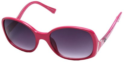 Angle of SW Oversized Style #408 in Pink and Silver Frame, Women's and Men's