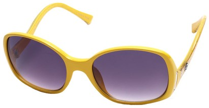 Angle of SW Oversized Style #408 in Yellow and Multi Frame, Women's and Men's