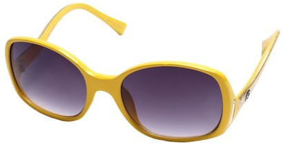 Angle of SW Oversized Style #408 in Yellow and Silver Frame, Women's and Men's