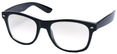 Angle of SW Retro Style #1698 in Black Frame with Flash Mirror Lenses, Women's and Men's