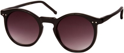 Angle of SW Retro Style #2765 in Black Frame with Smoke Lenses, Women's and Men's