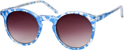 Angle of SW Retro Style #2765 in Blue Tortoise Frame with Smoke Lenses, Women's and Men's