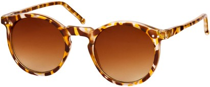 Angle of SW Retro Style #2765 in Brown Tortoise Frame with Amber Lenses, Women's and Men's