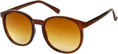 Angle of Fauna #832 in Brown Frame, Women's and Men's Round Sunglasses