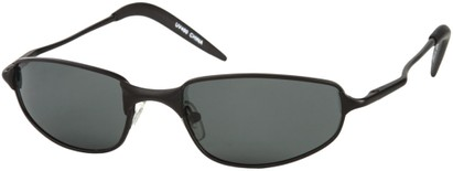 Angle of Albatross #5575 in Matte Black Frame, Women's and Men's Square Sunglasses