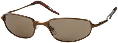 Angle of Albatross #5575 in Glossy Bronze Frame, Women's and Men's Square Sunglasses